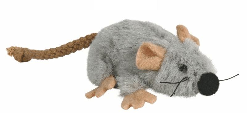 Zabawki - Trixie Mysz pluszowa z kocimiętką 7cm
