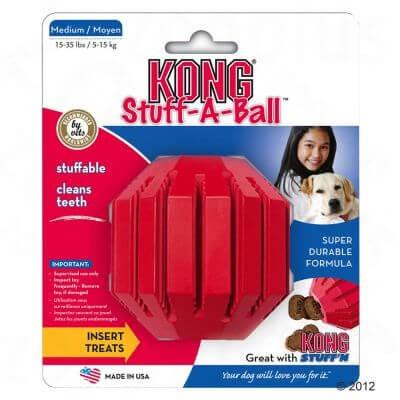 Zabawki - Kong Stuff Piłka na smakołyki M