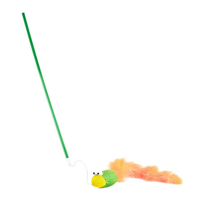 Zabawki - Trixie Wędka z ptaszkiem dla kota
