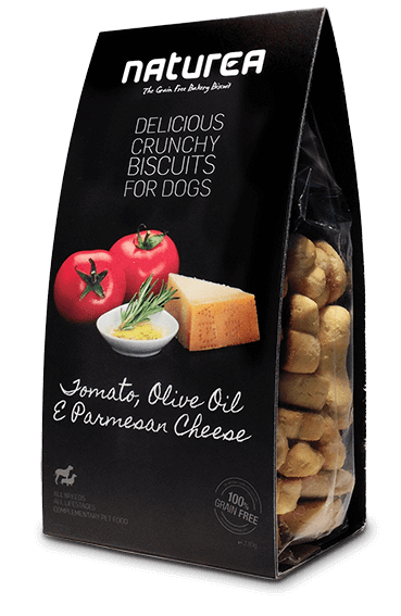 Przysmaki dla psa - Naturea Biszkopty z oliwą z oliwek i serem parmezan 230g