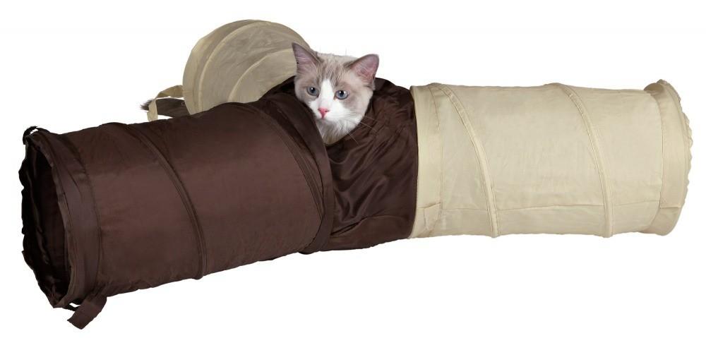 Drapaki, tunele dla kota - Trixie Tunel dla kota potrójny 22x50cm
