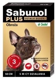 Preparaty lecznicze - Sabunol Plus obroża przeciw kleszczom i pchłom psa