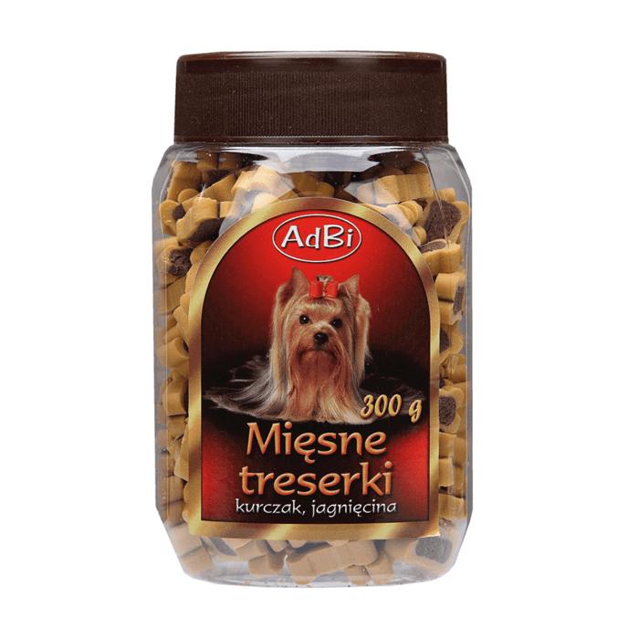 Przysmaki dla psa - AdBi Mięsne Treserki z kurczakiem i jagnięciną 300g