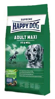 Karmy suche dla psa - Happy Dog Fit & Well Maxi Adult