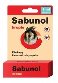 Preparaty lecznicze - Sabunol Krople przeciw pchłom i kleszczom dla psów
