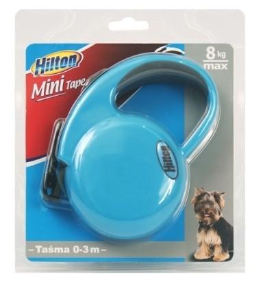 Smycze, obroże, szelki - Hilton Smycz Mini Tape taśma niebieska 3m/8kg