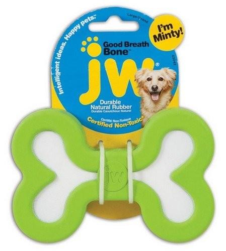Zabawki -  JW Pet Good Breath Bone zabawka miętowa dla psa - Large