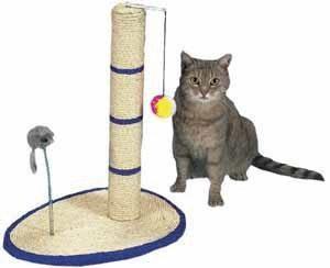 Drapaki, tunele dla kota - Trixie Drapak z piłką i myszką 50,5cm