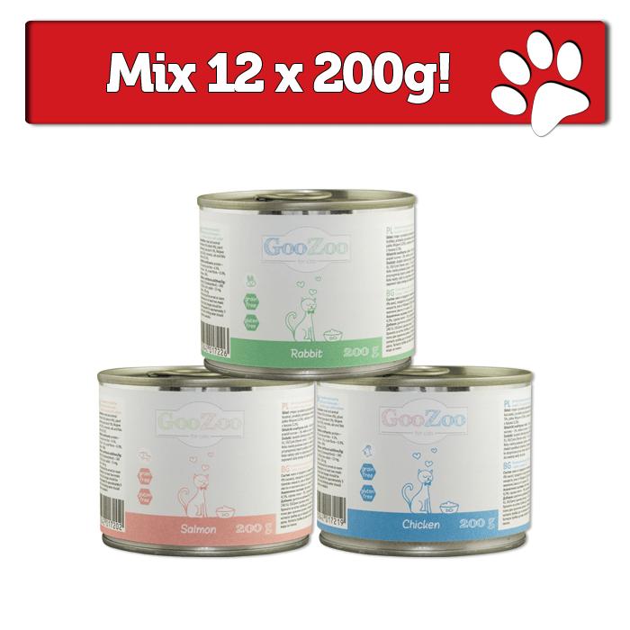 Karmy mokre dla kota - Goozoo karma mokra dla kota Mix 12x200g