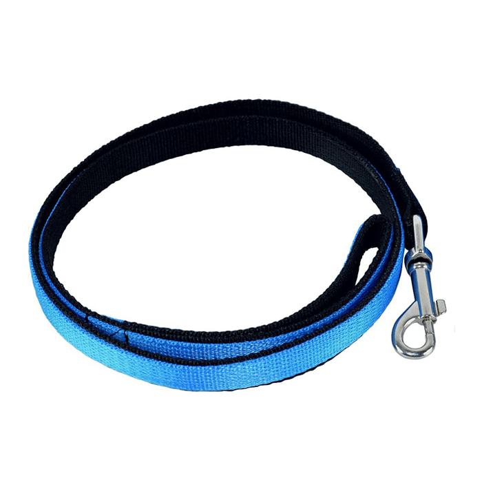 Smycze, obroże, szelki - Chaba Smycz taśma Strong niebiesko czarna 25mm/120cm