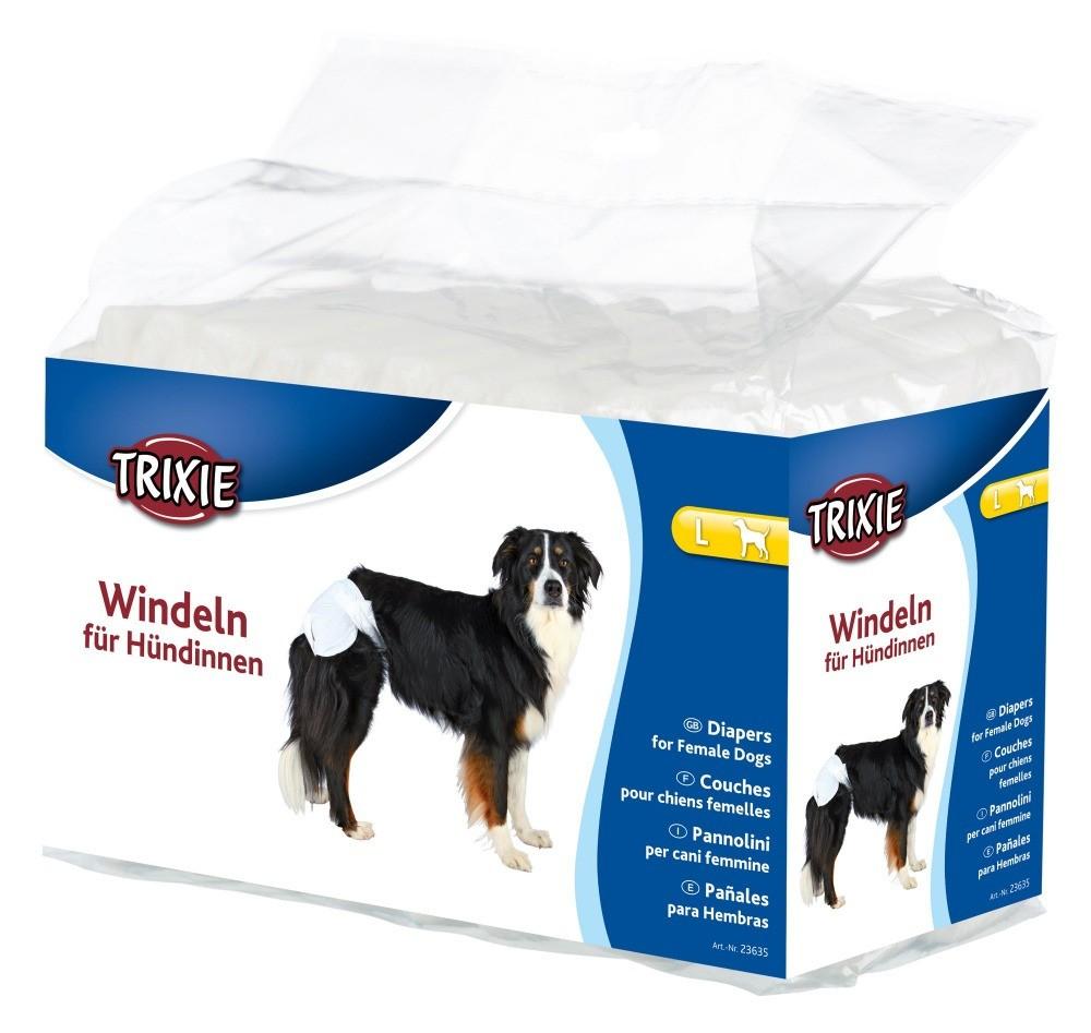 Produkty higieniczne - Trixie Pieluchy dla suczek rozmiar L 12szt.