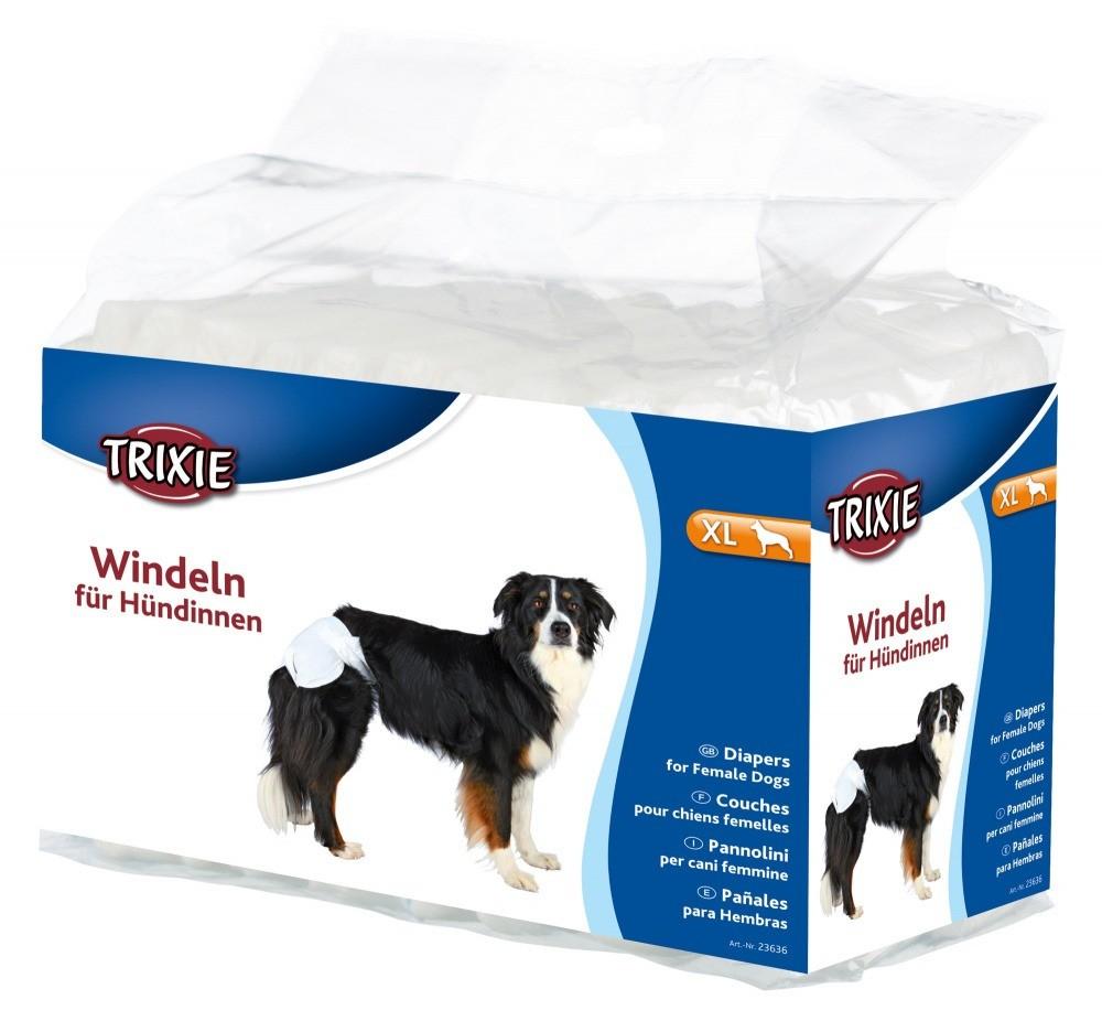 Produkty higieniczne - Trixie Pieluchy dla suczek rozmiar XL 12szt.