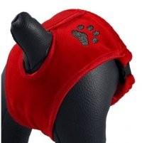 Ubranka dla psa - Grande Finale Majtki na cieczkę czerwone Paw [rozmiar 5]