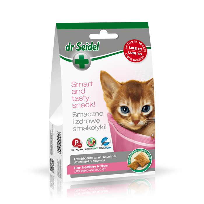 Przysmaki dla kota - Dr Seidel Smakołyki dla zdrowia kociąt 50g