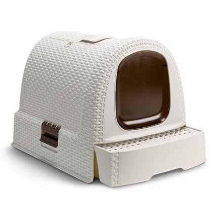 Kuwety, łopatki dla kota - Curver Toaleta z filtrem 51 x 38,5 x 39,5cm