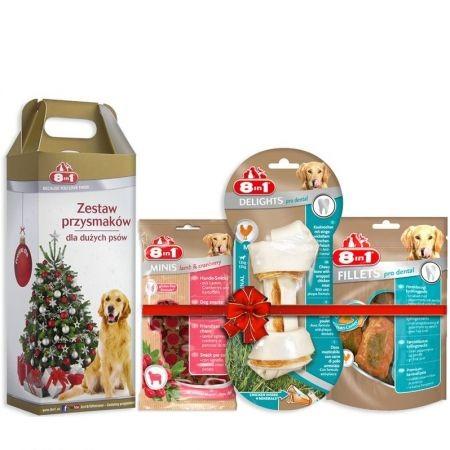 Przysmaki dla psa - 8in1 Zestaw świątecznych smakołyków dla psa large