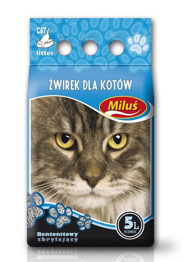 żwirek dla kota - Żwirek Miluś Standard zbrylający bentonitowy 5l