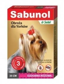 Sabunol Obroża różowa przeciw pchłom i kleszczom dla psa 35cm