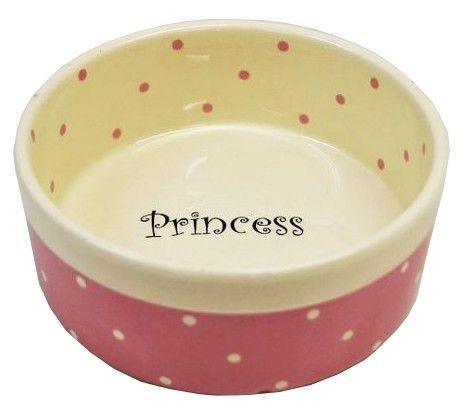 Miski i akcesoria do misek - Yarro Miska Ceramiczna Princess 13 x 5,5cm różowa