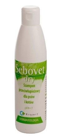 Higiena, pielęgnacja sierści - Sebovet-Dry - szampon przeciwłupieżowy 200ml