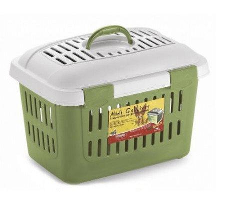 Transportery, sprzęt podróżny - Stefanplast Transporter Gulliver MIDI zielony 33 x 45 x 33cm
