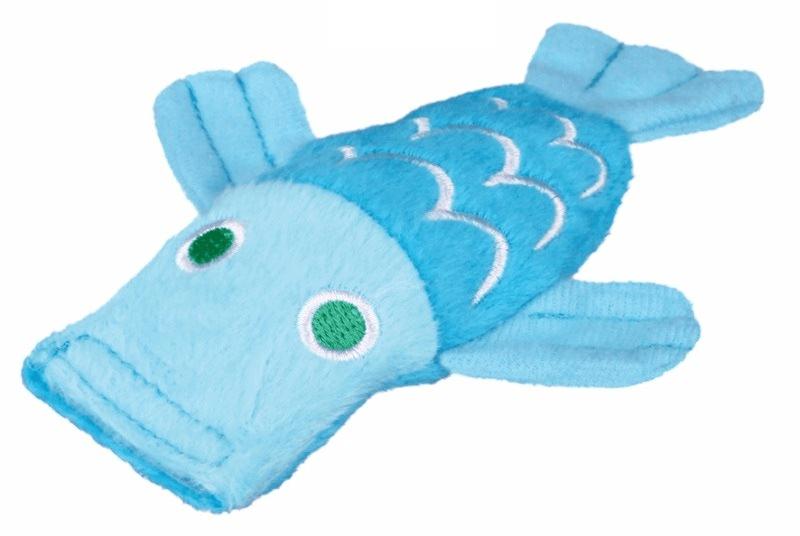 Zabawki - Trixie Rybka pluszowa z kocimiętką 12cm