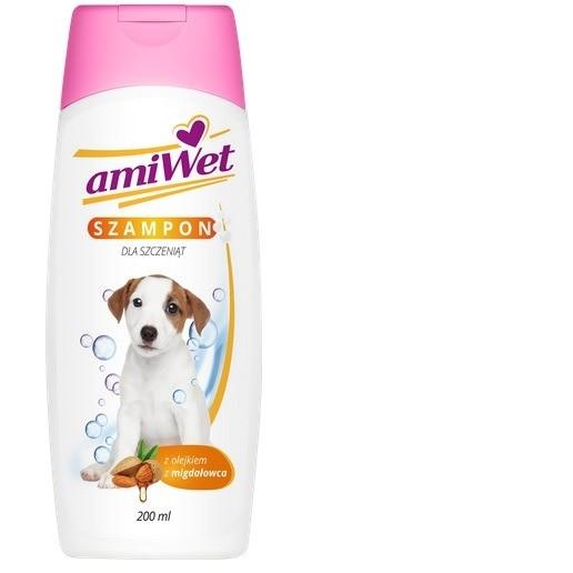 Higiena, pielęgnacja sierści - Amiwet Szampon dla szczeniąt z olejkiem migdałowca 200ml