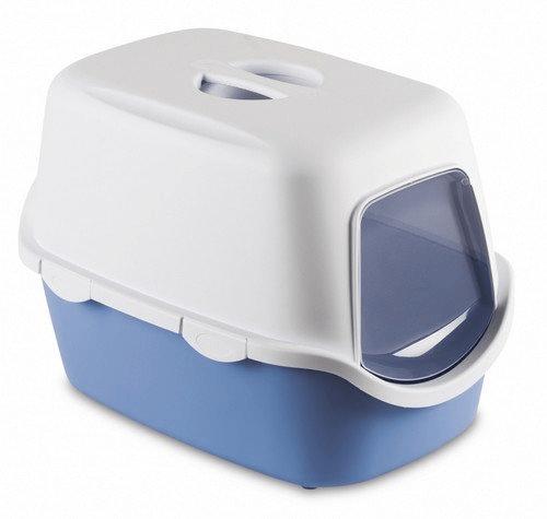 Kuwety, łopatki dla kota - Stefanplast Toaleta Cathy z filtrem Błękitna 56 x 40 x 40cm
