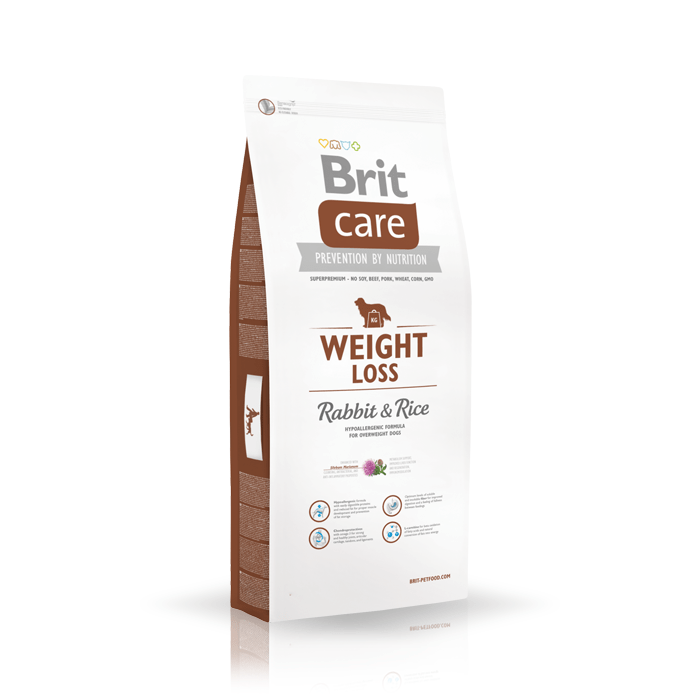 Karmy suche dla psa - Brit Care Weight Loss Rabbit & Rice