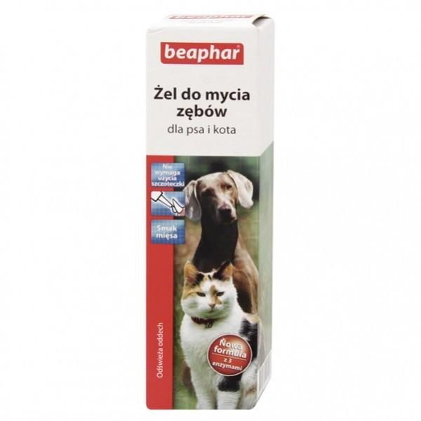 Higiena, pielęgnacja oczu, uszu, zębów - Beaphar żel do mycia zebów dla psów i kotów
