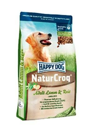 Karmy suche dla psa - Happy Dog Natur Croq Adult jagnięcina ryż