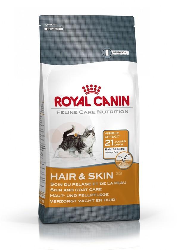 Karmy suche dla kota - Royal Canin Hair & Skin 33