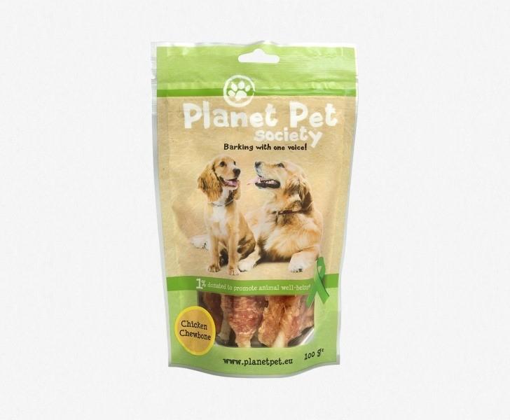 Przysmaki dla psa - Planet Pet Przysmak naturalny kurczak z kością 100g