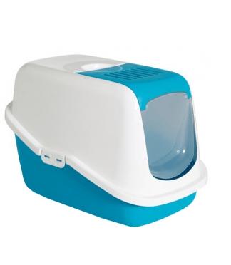 Kuwety, łopatki dla kota - Savic Toaleta dla kota Nestor niebieska 56 x 39 x 38,5cm