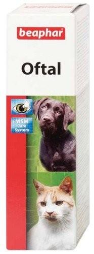 Higiena, pielęgnacja oczu, uszu, zębów - Beaphar Oftal Eyewater - krople do pielęgnacji oczu 50ml
