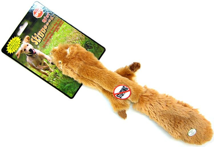 Zabawki - Skinneeez Zabawka Mini do szarpania wiewiórka 38cm