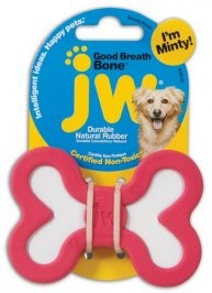 Zabawki - JW Pet Good Breath Bone zabawka miętowa dla psa - Medium