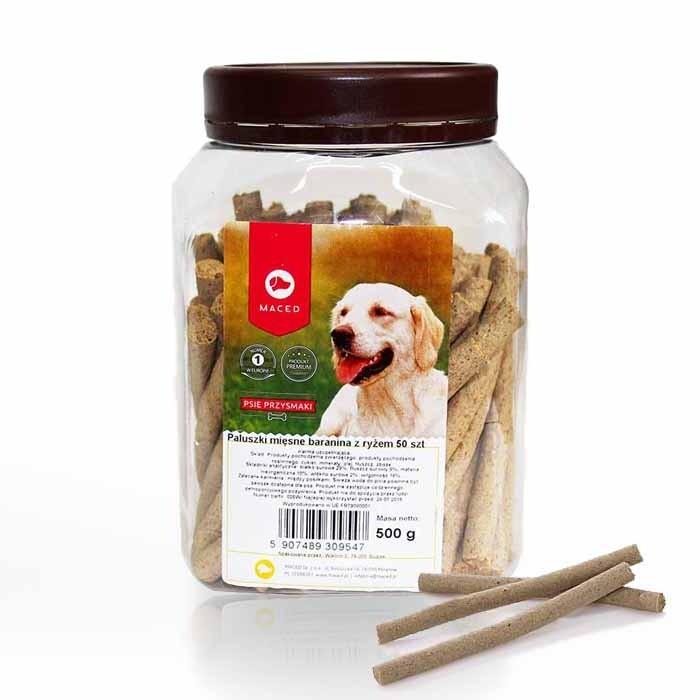 Przysmaki dla psa - Maced Paluszki mięsne z jagnięciną 50szt