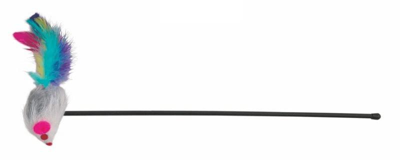 Zabawki - Trixie Patyk z myszką 50cm