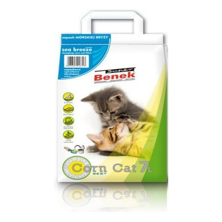 Żwirek Super Benek Corn Cat Morski 7l