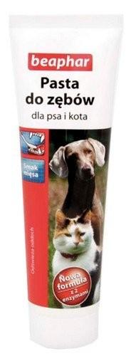 Higiena, pielęgnacja oczu, uszu, zębów - Beaphar Pasta do zębów o smaku mięsa dla psa i kota 100ml