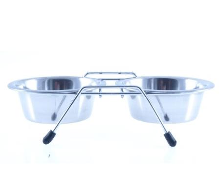 Miski i akcesoria do misek - Lupi miski na stojaku 2x0,47l