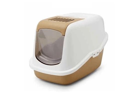 Kuwety, łopatki dla kota - Savic Toaleta dla kota Nestor beż 56 x 39 x 38,5cm