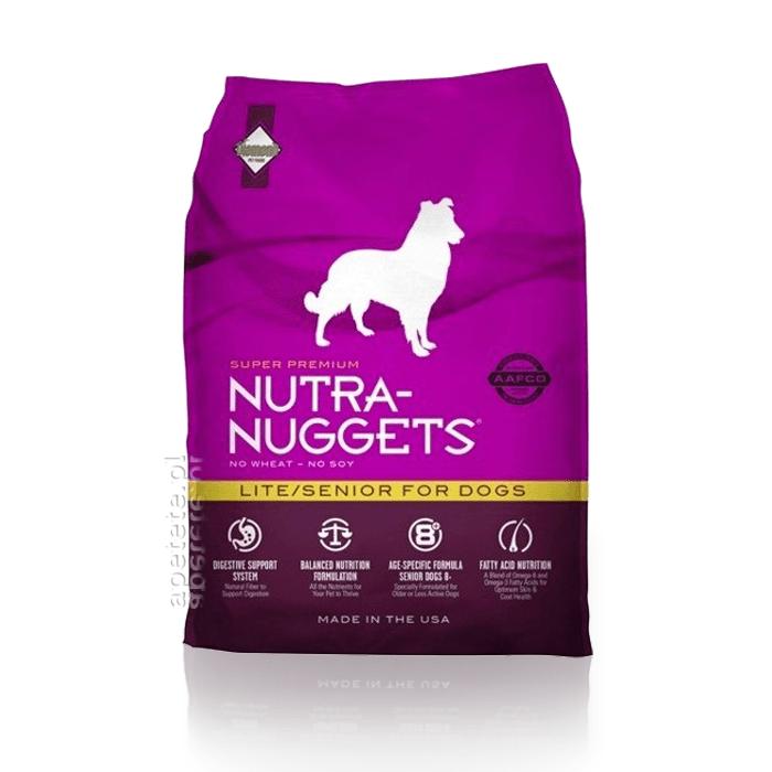 Karmy suche dla psa - Nutra Nuggets Adult Lite & Senior