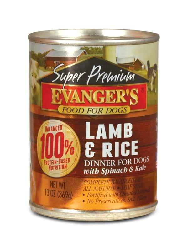 Karmy mokre dla psa - Evanger's Super Premium Gold Line jagnięcina z ryżem 369g