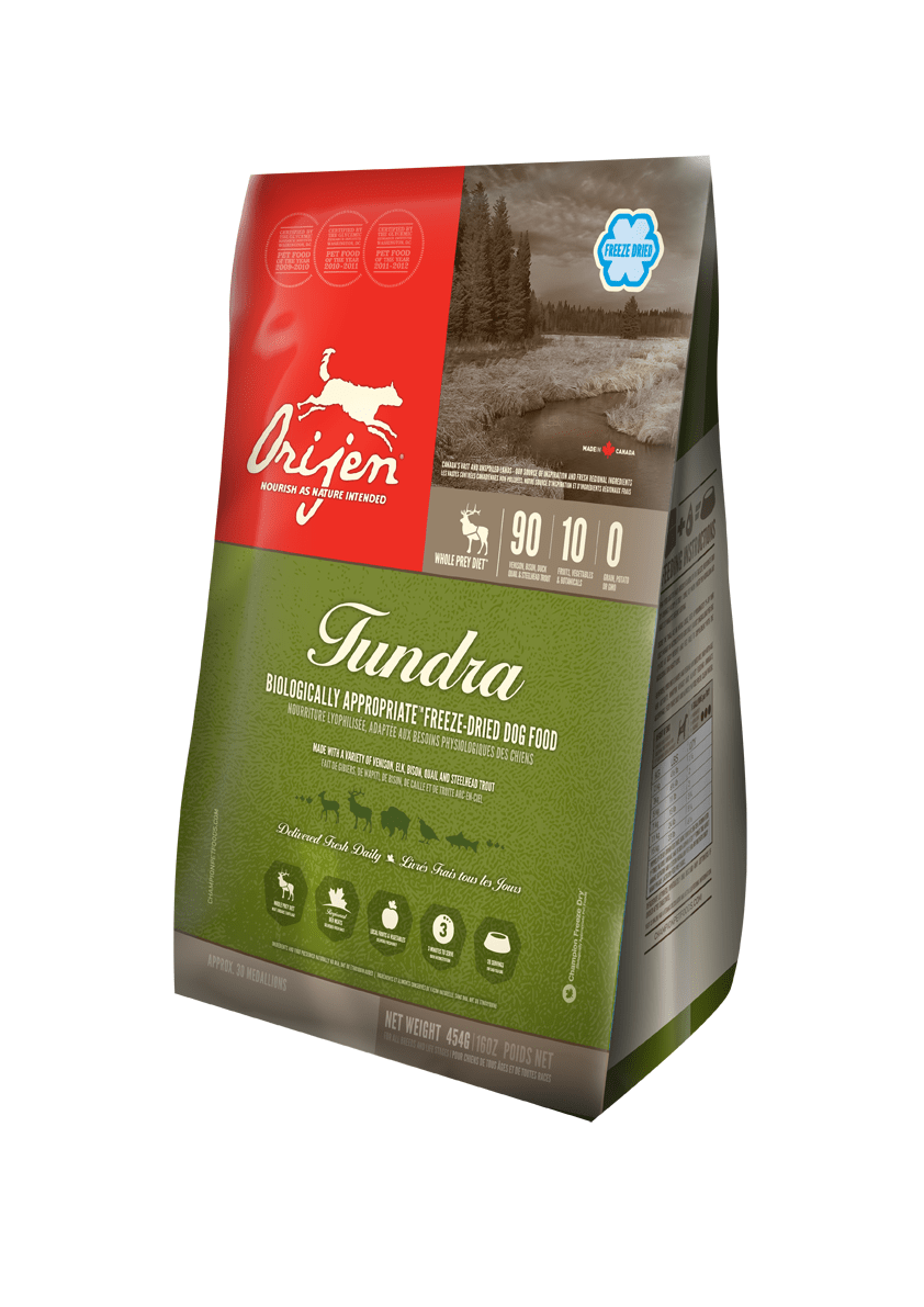 Karmy suche dla psa - Orijen Tundra Freeze Dried