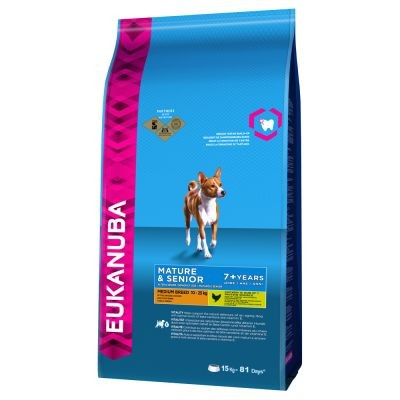 Karmy suche dla psa - Eukanuba Mature & Senior 7+ Medium Breed