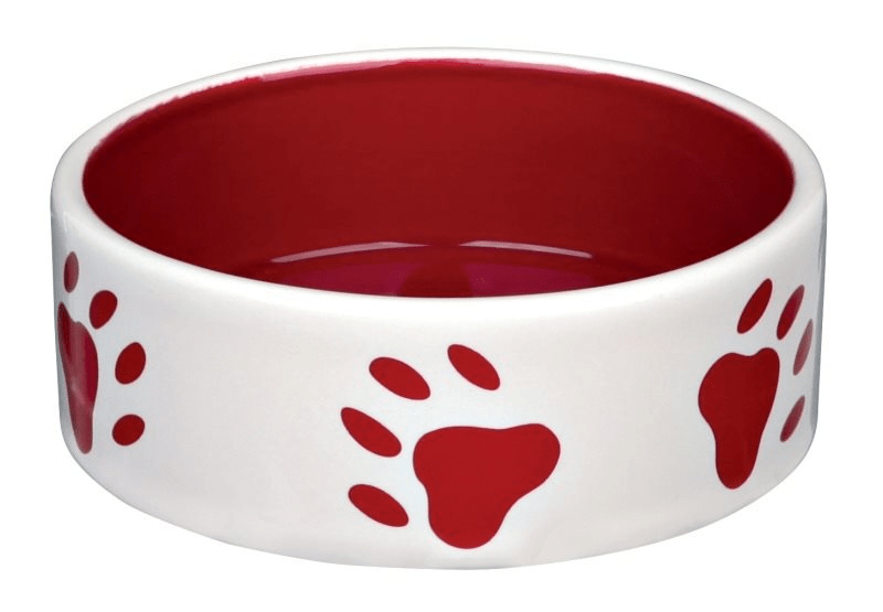 Miski i akcesoria do misek - Trixie miska ceramiczna dla kota czerwona 0,35l