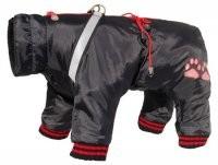 Ubranka dla psa - Grande Finale Kombinezon zimowy czarny na zamek [rozmiar 3]