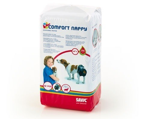 Produkty higieniczne - Savic Pieluchy Nappy T3 34-50cm 12szt